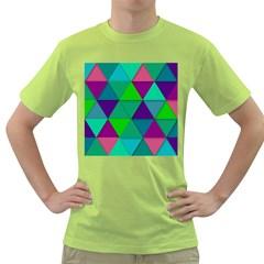 Background Geometric Triangle Green T Shirt