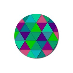Background Geometric Triangle Magnet 3  (round)