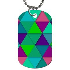 Background Geometric Triangle Dog Tag (two Sides)