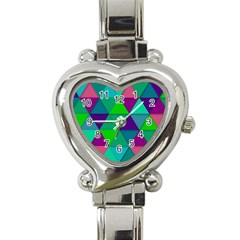 Background Geometric Triangle Heart Italian Charm Watch