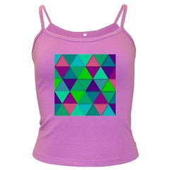 Background Geometric Triangle Dark Spaghetti Tank