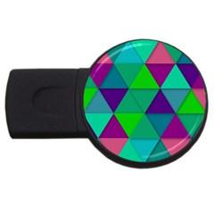 Background Geometric Triangle Usb Flash Drive Round (4 Gb)