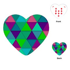 Background Geometric Triangle Playing Cards (heart)