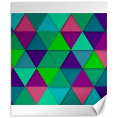 Background Geometric Triangle Canvas 8  X 10  by Nexatart
