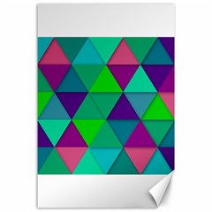 Background Geometric Triangle Canvas 24  X 36