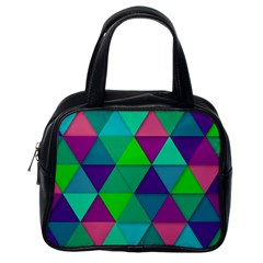 Background Geometric Triangle Classic Handbags (one Side)