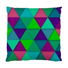 Background Geometric Triangle Standard Cushion Case (two Sides)