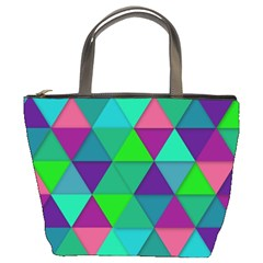 Background Geometric Triangle Bucket Bags