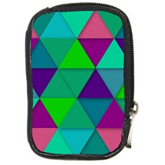 Background Geometric Triangle Compact Camera Cases