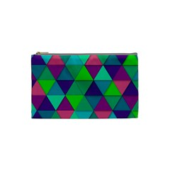 Background Geometric Triangle Cosmetic Bag (small)