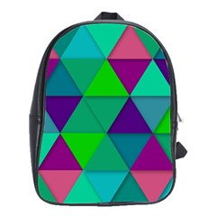 Background Geometric Triangle School Bag (large)