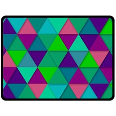 Background Geometric Triangle Fleece Blanket (large)