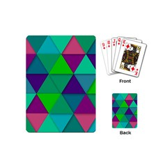 Background Geometric Triangle Playing Cards (mini)