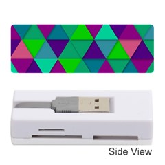 Background Geometric Triangle Memory Card Reader (stick)