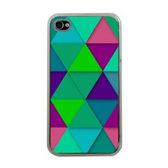 Background Geometric Triangle Apple Iphone 4 Case (clear)