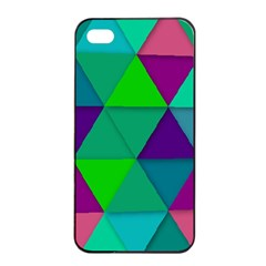 Background Geometric Triangle Apple Iphone 4/4s Seamless Case (black)