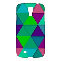 Background Geometric Triangle Samsung Galaxy S4 I9500/i9505 Hardshell Case