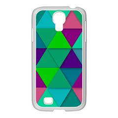 Background Geometric Triangle Samsung Galaxy S4 I9500/ I9505 Case (white)