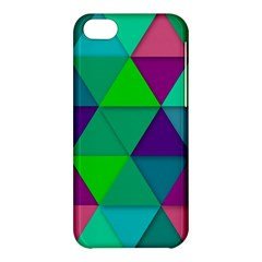 Background Geometric Triangle Apple Iphone 5c Hardshell Case by Nexatart