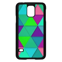 Background Geometric Triangle Samsung Galaxy S5 Case (black)
