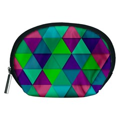 Background Geometric Triangle Accessory Pouches (medium)