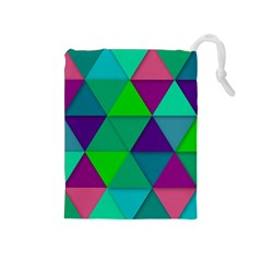 Background Geometric Triangle Drawstring Pouches (medium)