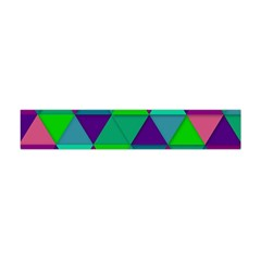 Background Geometric Triangle Flano Scarf (mini)
