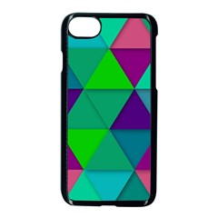 Background Geometric Triangle Apple Iphone 7 Seamless Case (black) by Nexatart