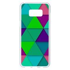 Background Geometric Triangle Samsung Galaxy S8 Plus White Seamless Case