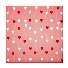 Heart Shape Background Love Tile Coasters