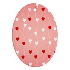 Heart Shape Background Love Ornament (oval)