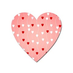 Heart Shape Background Love Heart Magnet by Nexatart