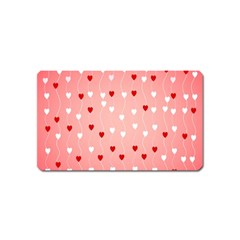Heart Shape Background Love Magnet (name Card)