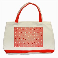 Heart Shape Background Love Classic Tote Bag (red)