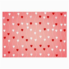 Heart Shape Background Love Large Glasses Cloth (2 Side)
