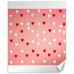Heart Shape Background Love Canvas 11  X 14