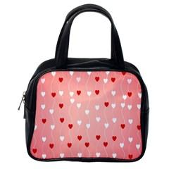 Heart Shape Background Love Classic Handbags (one Side)