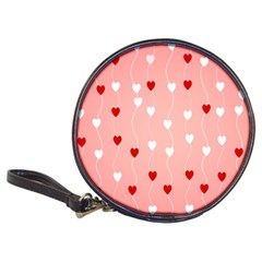 Heart Shape Background Love Classic 20 Cd Wallets