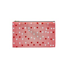 Heart Shape Background Love Cosmetic Bag (small)
