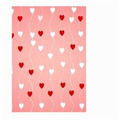 Heart Shape Background Love Large Garden Flag (two Sides)