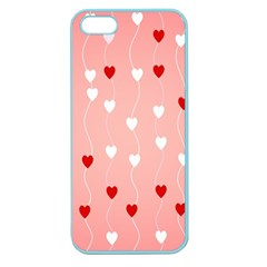 Heart Shape Background Love Apple Seamless Iphone 5 Case (color)