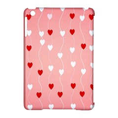 Heart Shape Background Love Apple Ipad Mini Hardshell Case (compatible With Smart Cover)