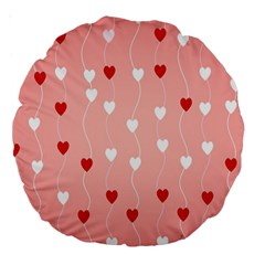 Heart Shape Background Love Large 18  Premium Round Cushions by Nexatart