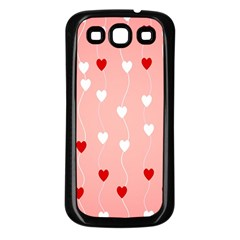 Heart Shape Background Love Samsung Galaxy S3 Back Case (black)