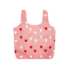 Heart Shape Background Love Full Print Recycle Bags (s)