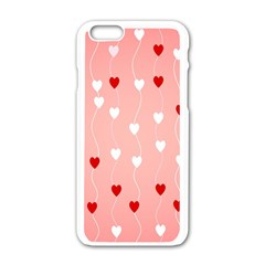 Heart Shape Background Love Apple Iphone 6/6s White Enamel Case
