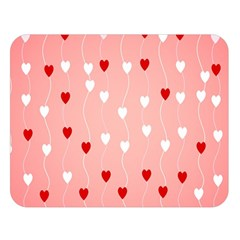 Heart Shape Background Love Double Sided Flano Blanket (large)