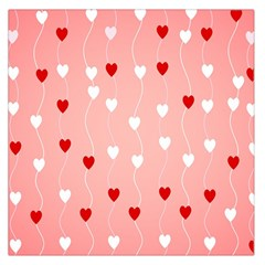 Heart Shape Background Love Large Satin Scarf (square)