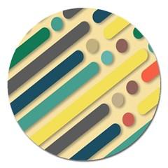 Background Vintage Desktop Color Magnet 5  (round)