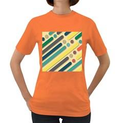Background Vintage Desktop Color Women s Dark T Shirt